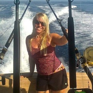 Christina From Surf Inn Fishing On The Top Notch