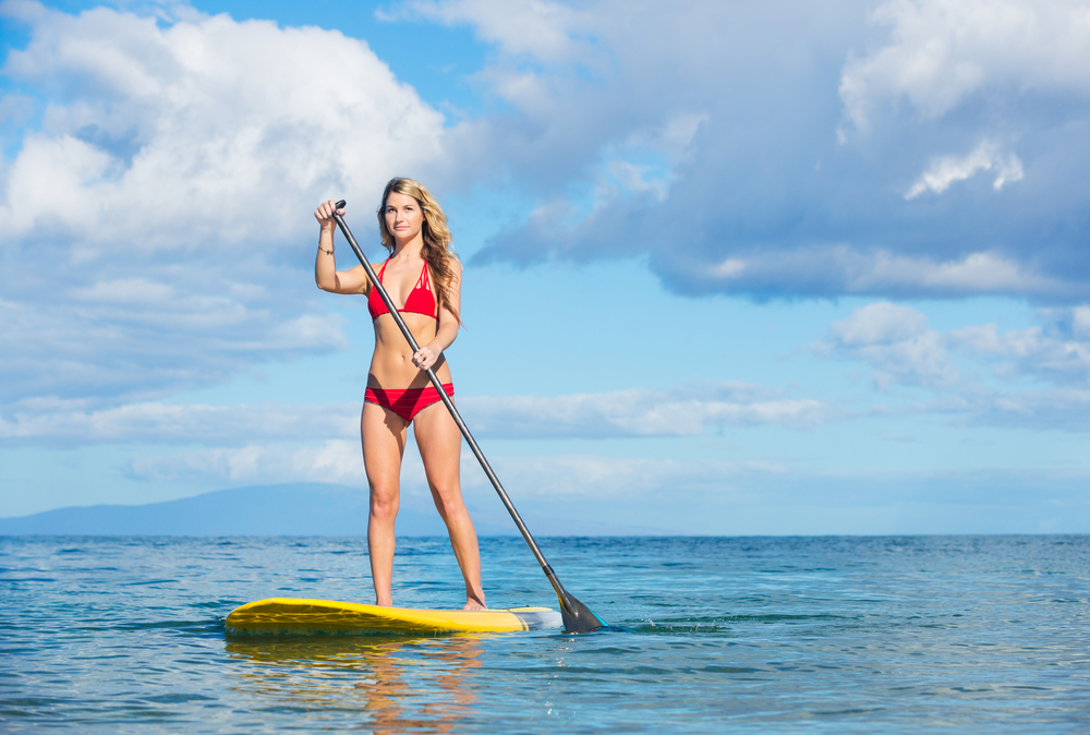 FITNESS ON PADDLE BOARD